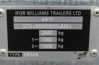 chassis number security markings with hiddlen numbers on trailer for identification all customers registered on west wood trailers database